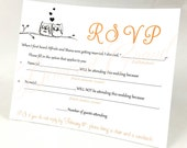 Love Owls RSVP Cards - Cute & Funny! Perfect for weddings, baby showers, bridal showers etc.!
