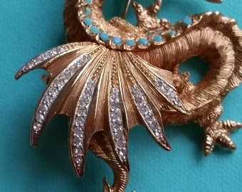 Fanciful Dragon Brooch by Schrager