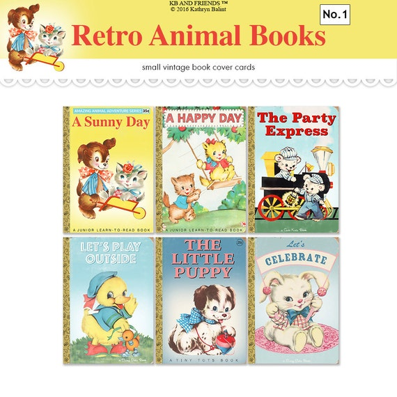 Children S Book Cover Printables : Vintage children s book covers printable
