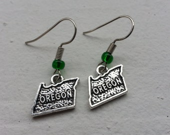 The State of Oregon Earrings