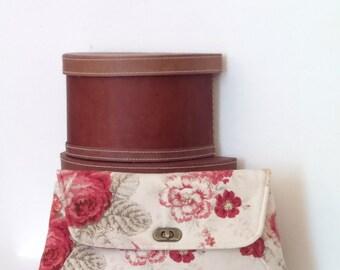 Clutch / Clutch Bag / Large Clutch Bag / Clutch Purse / Purse / Evening Bag / Handbag / Norfolk Rose