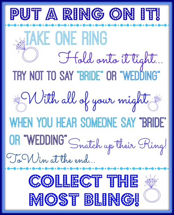 Gutsy image inside put a ring on it bridal shower game free printable