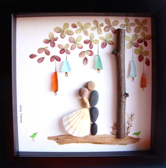 Personalized Wedding Gift Painting : Wedding Gift Pebble Art-Unique Engagement Gift-Personalized Wedding ...