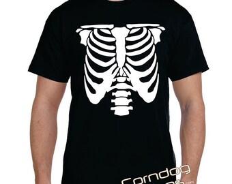 Skeleton Rib Cage T-Shirt Funny Rib Cage Gag tshirt