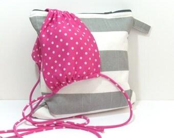 Gray Wet Bag, Bathing Suit Wet Bag, Large Wet Bag, Wet Dry Bag, Wet Bathing Suit Bag, Wet Beach Bag, Wet Bikini Bag, Bridesmaid Bag, Wet Bag