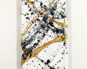 iPhone 6 Plus Case - Abstract Hand Painted - Cellphone Accessories - hard plastic - White Gold Black