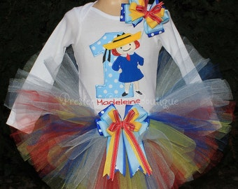 Madeline Birthday tutu set! Perfect for a Madeline Themed Birthday party or for pictures!