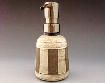 One of a Kind Handmade Pottery Ceramic  Dispenser for Soap or Lotion by NorthWind Pottery