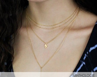 Lightning Bolt Necklace N26 • Thunder Necklace, Harry Potter Necklace, Thor Necklace, Thunder Necklace, Simple Necklace, Gift For Her