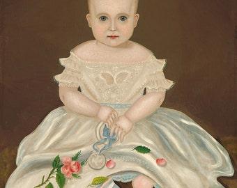 "Folk Art : ""Innocence"" (c. 1830) - Giclee Fine Art Print"