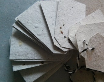20 Handmade Recycled Wildflower Seed Paper Tags