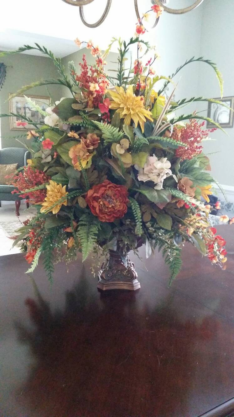 Extra Large Traditional Transitional Fall Floral Arrangement