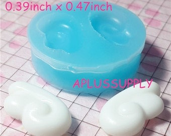 PYL003 Free Shipping 21mm Wing Silicone Flexible Push Mold - Miniature Food, Sweets, Jewelry, Charms Clay, Fimo, Resins, Gum Paste, Fondant