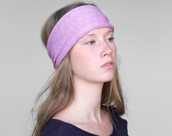 Rosa Stirnband, Haarschmuck, Turban, handgefertigt, sehr weich, zart zur Haut