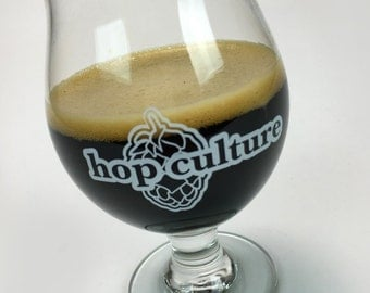 "Craft Beer glass- hop culture ""the share"" snifter- 13 oz"