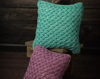 Instant Download- Crochet Pattern- Celtic Weave Pillow Cover