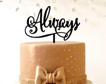 Wedding cake topper, Always wedding cake topper, cake decoration