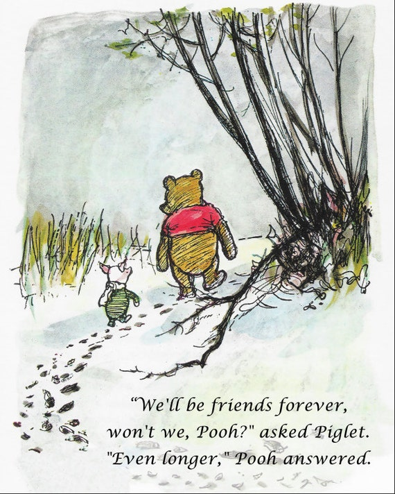 Pooh Quotes About Friendship: Winnie The Pooh Quotes Famous Pooh Prints Love Quote