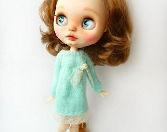 Knit dress for Blythe doll
