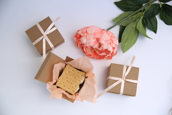 Gold Favor Boxes 4x4x4 : Kraft gift box with lid x by soiree supply