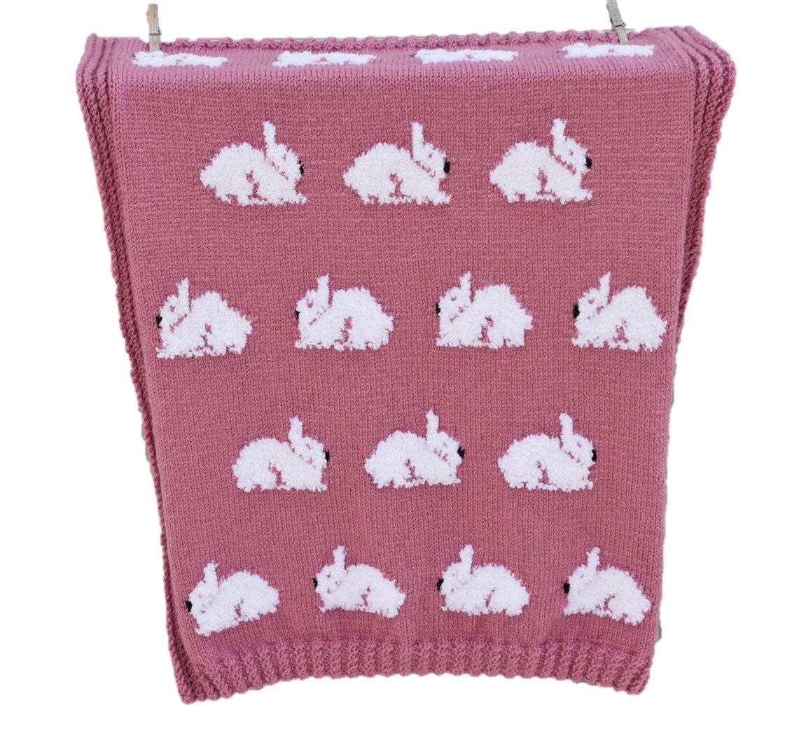 Rabbit blanket knitting pattern throw knitting pattern with rabbit blanket knitting pattern throw knitting pattern with bunnies rabbits throw knitting pattern cosy throw with rabbits bunny throw bankloansurffo Choice Image