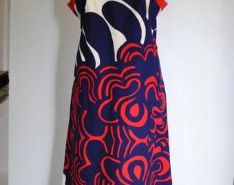 Vintage R MODELLE maxi printed dress.....