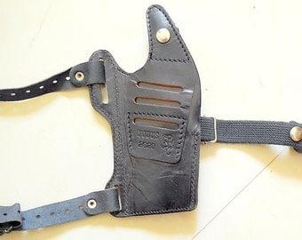 Vintage Fobus 2020 Pistol Revolver Gun Leather Shoulder Holster