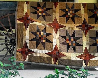 Pattern: Stars on a Tin Roof Quilt Pattern by Primitive Pieces by Lynda