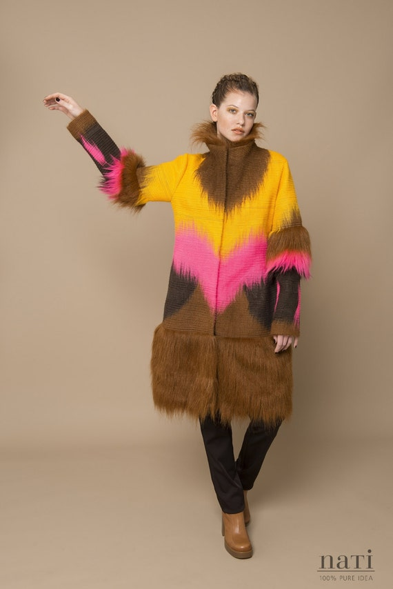 Long fauxfur wintercoat