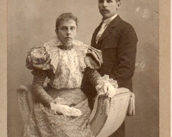 Antique Photo of Handsome Couple ID'd