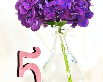 Pink Table Numbers 1-10,Wedding Wooden Table Numbers, Rustic Wedding, PinkTable numbers wedding, Rustic table numbers