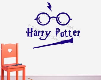 Harry Potter Glass Icon Stick Your Personalised Name Vinyl Decal Nursery Wall Stickers PR-03