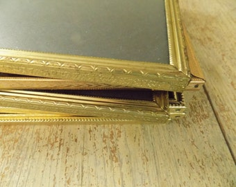 vintage bulk gold tone embossed metal picture frames 8x10 photo frames wedding sign frames hollywood regency