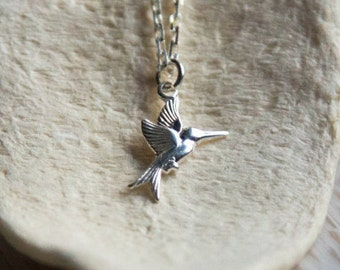 Sterling Silver Hummingbird Necklace, Freedom, Graduation, Sister, Best Friend, Daughter