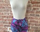 Vintage 80's Hawaii Wrap Around Shorts - Beach Cover-up - Sarong Shorts - Pool Party