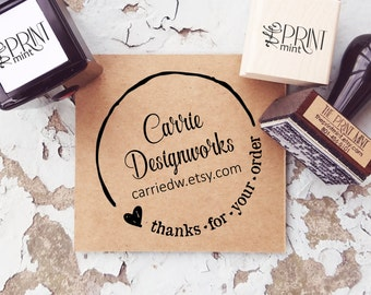 Custom Logo Stamp- Business Card Stamp- Thank You Business Stamp- Personalized  Etsy Logo Rubber Stamp - Custom Business Stamp  10198