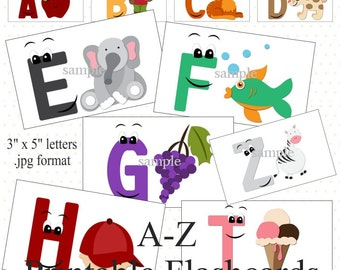 A-Z Printable Flashcards