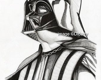 Darth Vader Portrait Print
