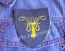 Game of Thrones styled sigil - House Greyjoy iron-on patch/badge
