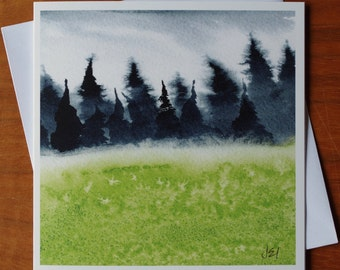 Irish Treescape II - Blank Greeting Card from an Original Watercolour Painting