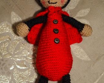 Amigurumi Crochet Ladybird Soft Toy