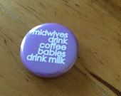 MIDWIVES BUTTON / set of ...
