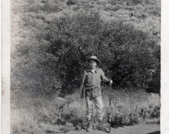 Vintage Snapshot Photo ~ Frontier Man