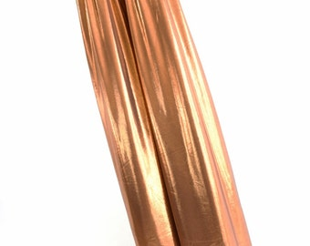 Stilt Covers in Copper Mystique Shiny Metallic Spandex Stilting Leg Covers - 152851