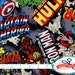 MARVEL COMICS Fabric by the Yard, Fat Quarter Hulk, Captain America, Thor, Wolverine Fabric Cotton Quilting Fabric 100% Cotton Fabric t6-34