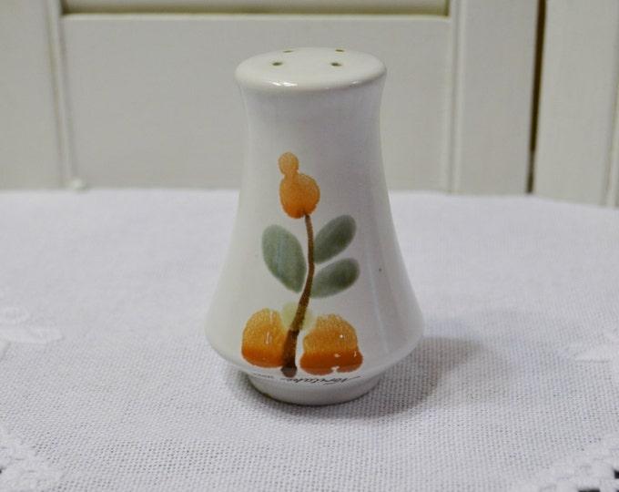 Vintage Noritake Bliss Salt Shaker Stoneware 8574 Green Orange Design Japan PanchosPorch