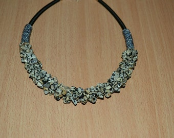 Dalmatian Jasper necklace.
