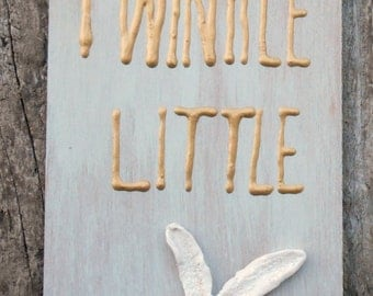 Twinkle Twinkle Litte Star, Starfish Wall Decor, Child's Room Decor, Whimsical Wall Decor