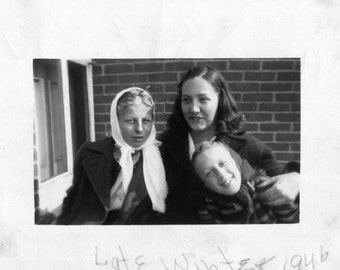 Vintage Photo..The Three Amigos 1940's, Original Photo, Old Photo Snapshot, Vernacular Photography, American Social History Photo
