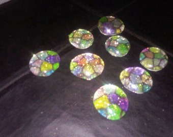 Stained Glass Magnets set of 8